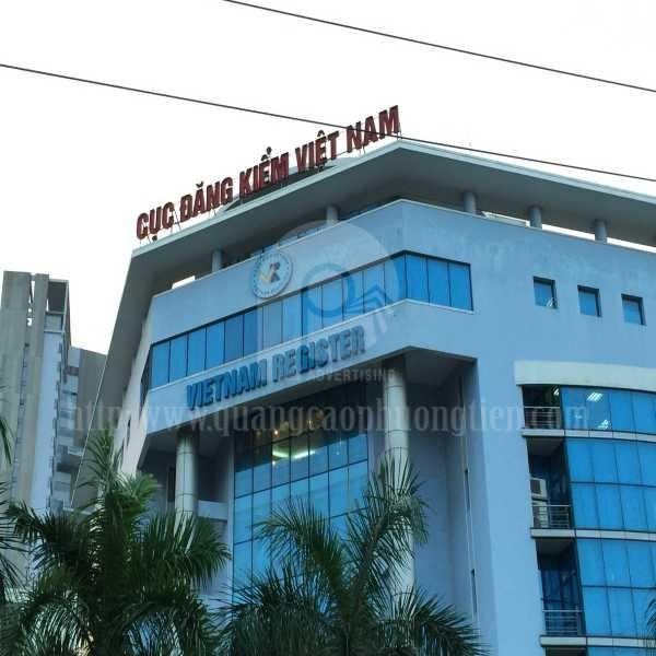 Làm biển chữ nổi Cục đăng kiểm Việt Nam