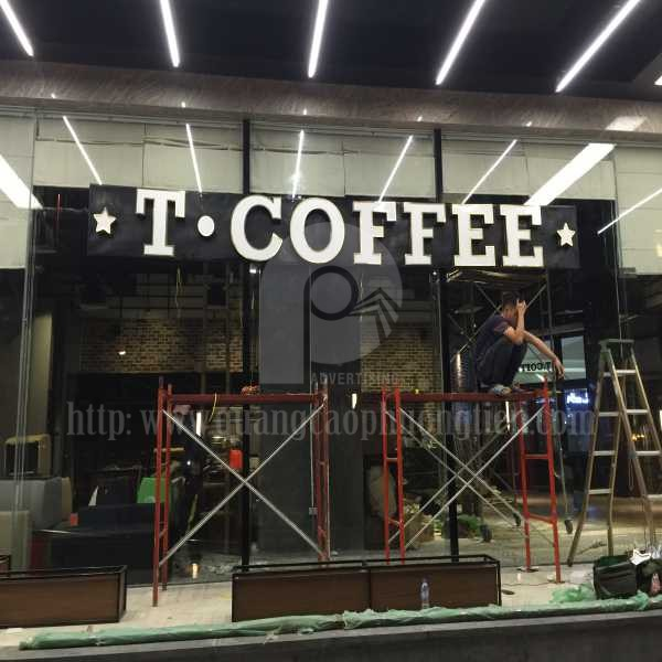 Làm biển chữ nổi T-Coffee