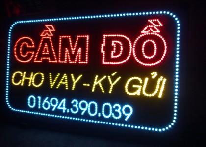 Biển quảng cáo đèn led dịch vụ cầm đồ