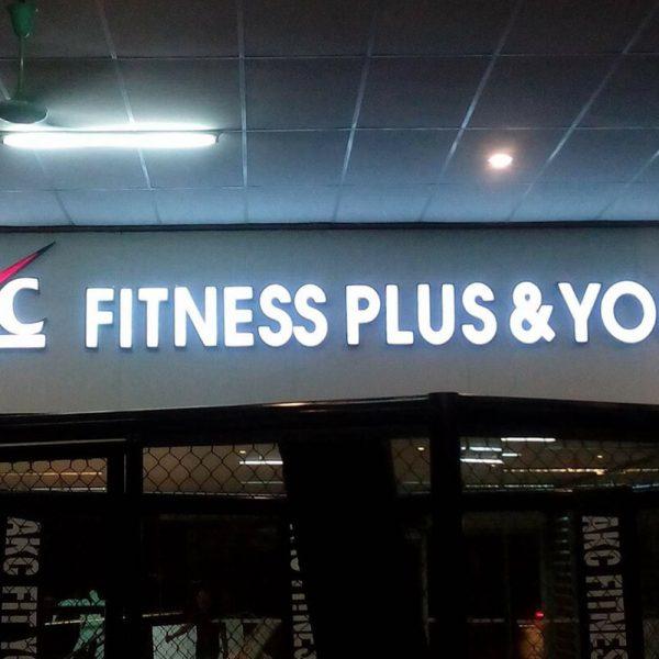 Biển chữ nổi trong nhà Akc Fitness Plus & Yoga