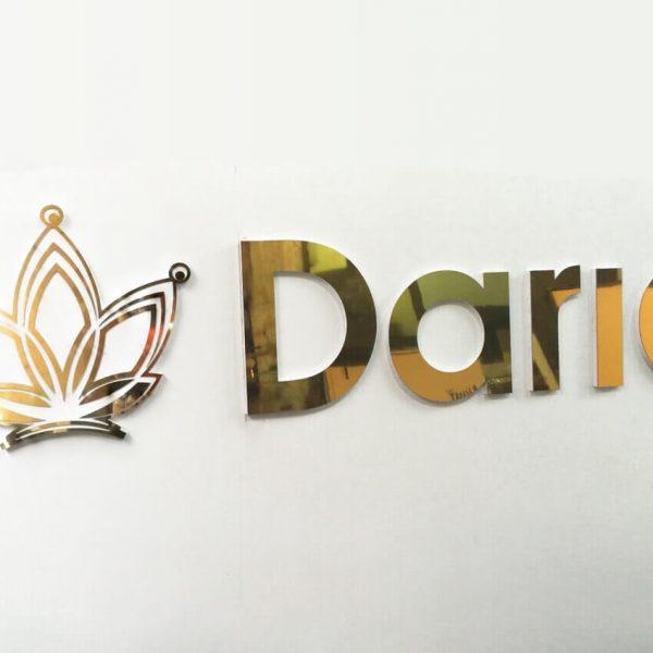 Biển ốp alu chữ nổi thẩm mỹ Daria