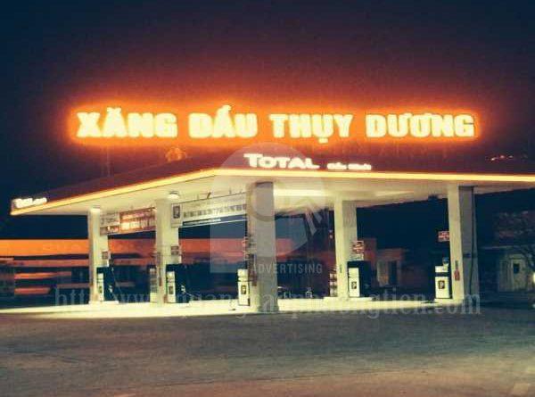 Biển Chữ Nổi Đèn LED tại trạm xăng dầu Thụy Dương