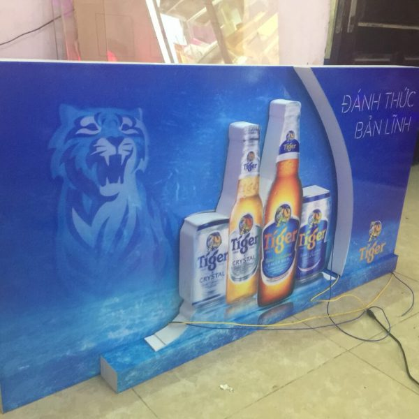 biển hộp đèn quảng cáo bia tiger
