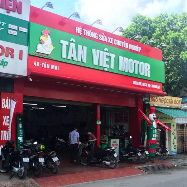 Biển alu chữ nổi mica uốn hộp hệ thống sửa xe Tân Việt