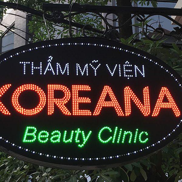 Biển vẫy đèn led thẩm mỹ viện Koreana