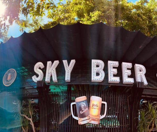 Biển chữ nổi đèn led đui Sky Beer