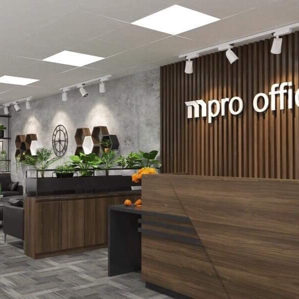 Biển lam nhựa chữ nổi Mpro Office
