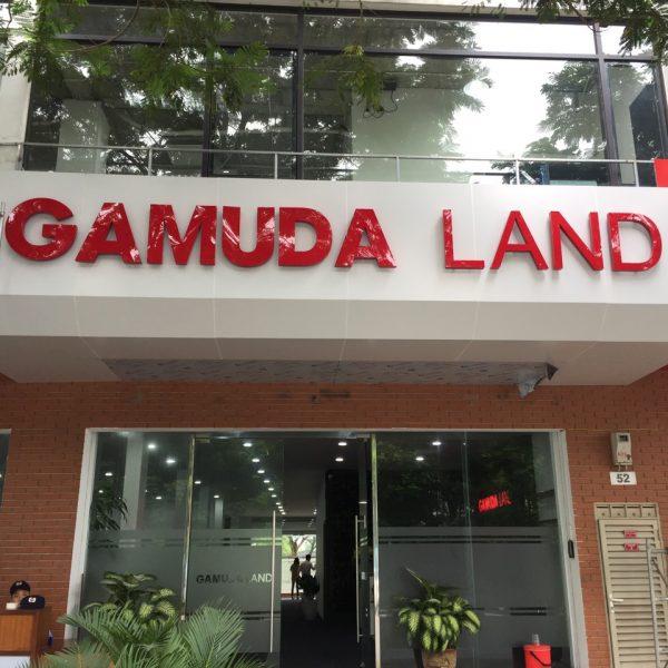 Biển ốp alu chữ nổi khu đô thị Gamuda