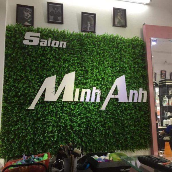 Biển tường cỏ salon Minh Anh
