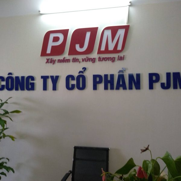 Biển chữ nổi logo công ty PJM