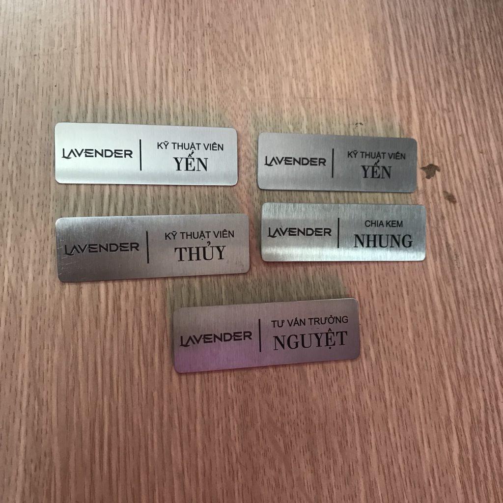 Thẻ nhân viên bằng inox